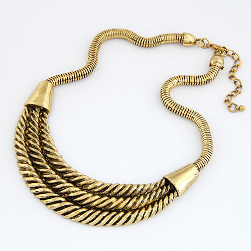 Zinc Alloy Jewelry Necklace, antique bronze color plated, lead & cadmium free, 400x115x30mm, Sold Per Approx 15.75 Inch Strand