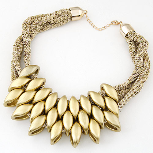 CCB Ожерелья, Пластик с медным покрытием, с железный цепи, Лошадиный глаз, плакирован золотом, золотой, 400mm, Продан через Приблизительно 15.5 дюймовый Strand
