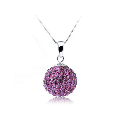 Rhinestone Pendant, Brass, with Rhinestone Clay Pave, Round, platinum color plated, lead & cadmium free, 17x10mm, Hole:Approx 2-3mm, Sold By PC
