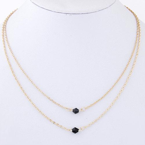 Ожерелья из металла, Железо, плакирован золотом, Овальный цепь, не содержит свинец и кадмий, 600x400mm, Продан через Приблизительно 19.5 дюймовый Strand