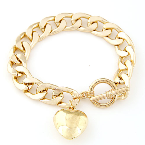 Zinc Alloy Bracelet gold color plated charm bracelet   twist oval chain lead   cadmium free 170x20mm Sold Per Approx 6.69 Inch Strand
