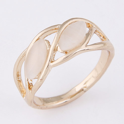 Cats Eye Finger Ring Zinc Alloy with Cats Eye real gold plated lead   cadmium free 13mm US Ring Size:1.5 Length:0.51 Inch