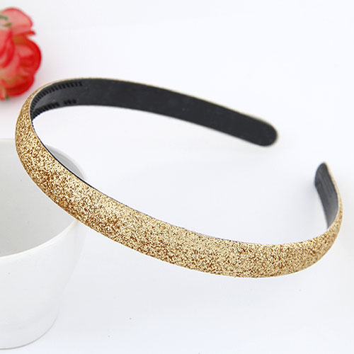 Hair Bands Plastic colorful powder gold 130x13mm
