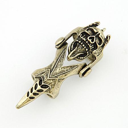 Кольца на весь палец, цинковый сплав, Покрытие под бронзу старую, 66x20mm, размер:6-9, продается PC