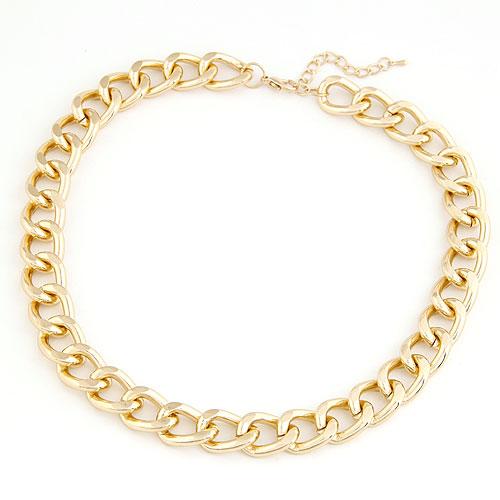 Ожерелья из металла, Железо, с 5cm наполнитель цепи, плакирован золотом, твист овал, не содержит свинец и кадмий, 15mm, Продан через Приблизительно 16.5 дюймовый Strand