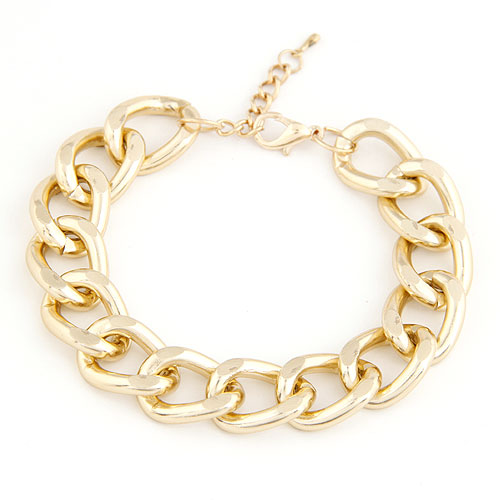 Zinc Alloy Bracelet gold color plated twist oval chain lead   cadmium free 190x15mm Sold Per Approx 7.48 Inch Strand