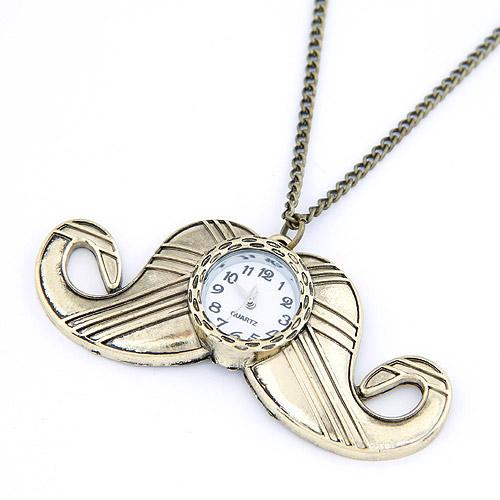 Модная Смотреть ожерелье, цинковый сплав, плакированный цветом под старое золото, не содержит свинец и кадмий, 750x80x32mm, Продан через 29.53 дюймовый Strand