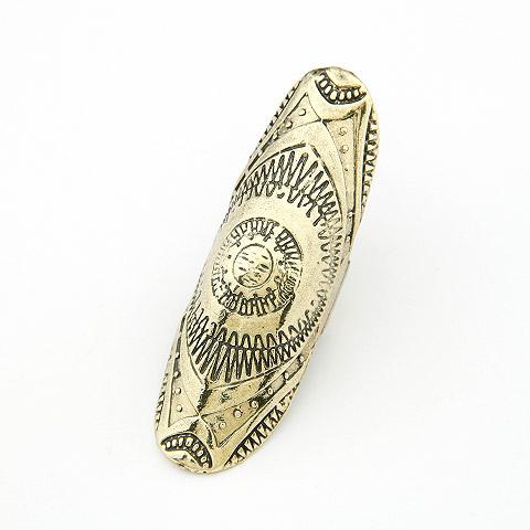 Кольца на весь палец, цинковый сплав, Покрытие под бронзу старую, не содержит свинец и кадмий, 65x20mm, размер:6-9, продается PC