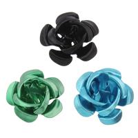 Aluminium bloem kralen, geschilderd, verschillende grootte voor keus, gemengde kleuren, nikkel, lood en cadmium vrij, Gat:Ca 1mm, 950pC's/Bag, Verkocht door Bag