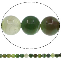 Natural Green Agate Beads, Round, different size for choice, Hole:Approx 1mm, Length:Approx 15 Inch, Sold By Lot