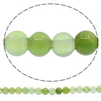 الخرز العقيق الأخضر الطبيعي, جولة, 4mm, حفرة:تقريبا 1mm, طول:تقريبا 15 بوصة, 10جدائل/الكثير, تقريبا 93أجهزة الكمبيوتر/حبلا, تباع بواسطة الكثير