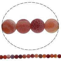 Natuurlijke Effloresce Agaat kralen, Ronde, 6mm, Gat:Ca 1mm, Lengte:Ca 15 inch, 10strengen/Lot, Ca 63pC's/Strand, Verkocht door Lot