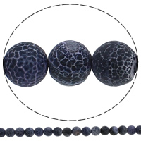 Natural Effloresce Agate Beads, Round, 10mm, Hole:Approx 1mm, Length:Approx 15.3 Inch, 10Strand