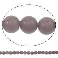 Cats Eye Jewelry Beads, Round, purple, 6mm, Hole:Approx 1mm, Length:Approx 15.3 Inch, 5Strands/Bag, Approx 65PCs/Strand, Sold By Bag