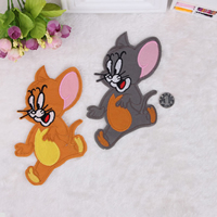 Iron on Patches, Cloth, Mouse, more colors for choice, 125x180mm, 50PCs/Lot, Sold By Lot