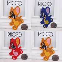 Iron on Patches, Cloth, Mouse, more colors for choice, 60x80mm, 150PCs/Lot, Sold By Lot