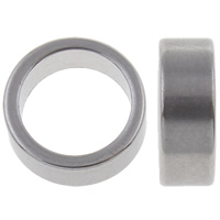 Stainless Steel Large Hole Bead, Donut, original color, 8x3mm, Hole:Approx 1mm, 50PCs/Bag, Sold By Bag