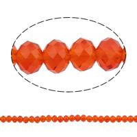Kryształowe koraliki rondelle, Kryształ, Okrąg, imitacja kryształu CRYSTALLIZED™, ognisty opal, 6x8mm, otwór:około 1.5mm, długość:około 16 cal, 10nici/torba, sprzedane przez torba
