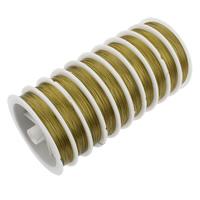Drut tygrysi ogon, Drut jubilerski, Elektroforeza, żółty, 0.38mm, długość:około 650 m, 10komputery/torba, sprzedane przez torba