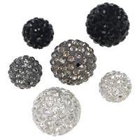 Metà Forato Perline strass, argilla, Cerchio, formato differente per scelta & mezzo foro, nessuno, Foro:Appross. 1mm, 100PC/lotto, Venduto da lotto