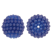 Plastic Beads, Round, disassembly and assembly & solid color, more colors for choice, 20mm, Hole:Approx 2mm, 100PCs/Bag, Sold By Bag