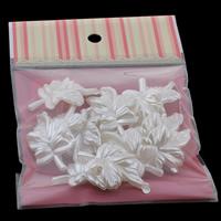 Tworzywa ABS perła Wisiorek, Liść, biały, 25x41x8mm, 100x170mm, otwór:około 1mm, 15komputery/torba, sprzedane przez torba