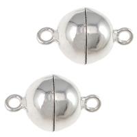 Magnetyczne zapięcie srebrne, Srebro 925, Koło, jednopasmowe, 8x14mm, otwór:około 1mm, 5komputery/torba, sprzedane przez torba