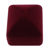 Velveteen Ring Box Rectangle red 53x47x41mm 10PCs/Bag