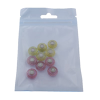 European kristalli helmiä, Rondelli, messinki yhden ytimen ilman peikko & kasvot, sekavärit, 13.5x8mm, Reikä:N. 5mm, 10PC/laukku, Myymät laukku