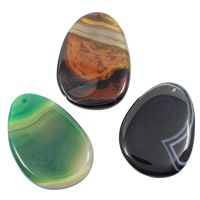 Lace Agate Pendants, mixed, 35-45mm, 55-65mm, Hole:Approx 1mm, 20PCs/Bag, Sold By Bag