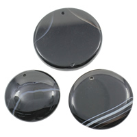 Lace Agate Pendants, mixed, black, 40-55mm, Hole:Approx 1mm, 20PCs/Bag, Sold By Bag