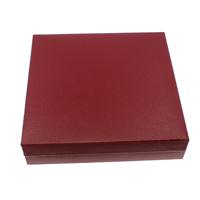 Kartonowe pudełko na naszyjnik, Tektura, ze Welwet, Kwadrat, czerwony, 190x43mm, 5komputery/torba, sprzedane przez torba