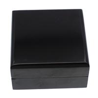 Drewniane pudełko na naszyjnik, Drewno, ze Welwet, Kwadrat, Malowane, czarny, 75x40mm, 5komputery/torba, sprzedane przez torba