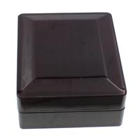 Drewniane pudełko na naszyjnik, Drewno, ze Welwet, Prostokąt, Malowane, brązowy, 85x106x42mm, 5komputery/torba, sprzedane przez torba