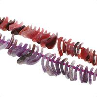 Natuurlijke Crackle Agaat parels, gefacetteerde, meer kleuren voor de keuze, 20x4x10mm-45x10x22mm, Gat:Ca 1mm, Ca 50pC's/Strand, Per verkocht Ca 15.3 inch Strand