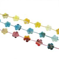 Natuurlijke Crackle Agaat parels, Bloem, meer kleuren voor de keuze, 20x20x7mm, Gat:Ca 1mm, Ca 12pC's/Strand, Per verkocht Ca 15.7 inch Strand