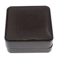 Leather Bracelet Boxes, PU, with Cardboard & Velveteen, Square, deep coffee color, 90x42mm, 10PCs/Bag, Sold By Bag