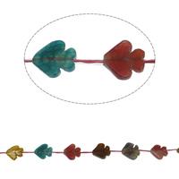 Natuurlijke Crackle Agaat parels, Vis, gemengde kleuren, 22x20x5mm, Gat:Ca 1mm, Ca 12pC's/Strand, Per verkocht Ca 15.7 inch Strand