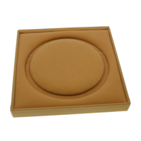 Velveteen Necklace Box, with Cardboard, Square, deep yellow, 190x30mm, 5PCs/Bag, Sold By Bag