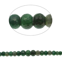 Natural Green Agate Beads, Rondelle, graduated beads & faceted, 10x7mm-20x16mm, Hole:Approx 1mm, Approx 39PCs/Strand, Sold Per Approx 15.7 Inch Strand