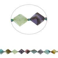 Natuurlijke Crackle Agaat parels, Bicone, gefacetteerde, gemengde kleuren, 18x16mm, Gat:Ca 1mm, Ca 21pC's/Strand, Per verkocht Ca 17.3 inch Strand