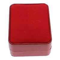 Velveteen Necklace Box, Cardboard, with Velveteen, Rectangle, red, 70x90x36mm, 18PCs/Bag, Sold By Bag