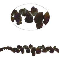 Vergulde Agaat parels, Nuggets, plated, gefacetteerde, 14x8x5mm-35x17x14mm, Gat:Ca 1mm, Ca 55pC's/Strand, Per verkocht Ca 17.7 inch Strand