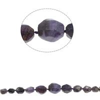 Natuurlijke Crackle Agaat parels, afgestudeerd kralen & gefacetteerde, purper, 11x15mm-27x30mm, Gat:Ca 1mm, Ca 26pC's/Strand, Per verkocht Ca 18.5 inch Strand
