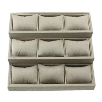Linen Bracelet Display, with Wood, 260x240x90mm, Sold By PC