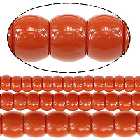 Koraliki z żywicy imitujące bursztyn, żywica, imitacja bursztynu & mieszane, czerwonawopomarańczowy, 4-9x7-12mm, otwór:około 1.5mm, długość:około 15 cal, 10nici/wiele, sprzedane przez wiele