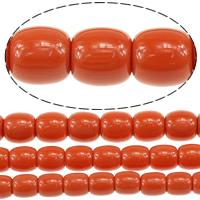Koraliki z żywicy imitujące bursztyn, żywica, imitacja bursztynu & mieszane, czerwonawopomarańczowy, 9-12x8-11mm, otwór:około 1.5mm, długość:około 15.5 cal, 10nici/wiele, około 40komputery/Strand, sprzedane przez wiele