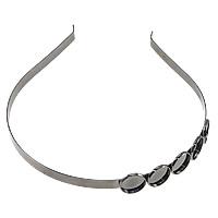 Ободок для волос, Латунь, черный свнец, не содержит никель, свинец, 7mm, 16mm, внутренний диаметр:Приблизительно 14mm, длина:Приблизительно 15 дюймовый, 10ПК/Лот, продается Лот