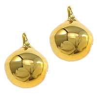 Brass Bell Pendant, gold color plated, nickel, lead & cadmium free, 13.50x18mm, Hole:Approx 2.5mm, 100PCs/Lot, Sold By Lot