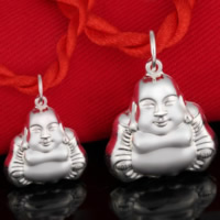 Buddhist Jewelry Pendant, 990 Sterling Silver, Buddha, different size for choice, Hole:Approx 3-5mm, 10PCs/Lot, Sold By Lot